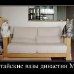 Кошки-вазы